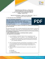 Guia de actividades y Rúbrica de evaluación Unidad 3- Fase 4- Acontecimientos Desencadenantes