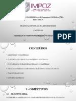 Materias e Componentes electricos e electronico 10ºClasse