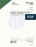 ABNT NBR 14724_2011 - Trabalhos Acadêmicos