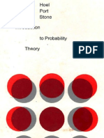 Hoel Introduction to Probability Theory