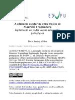 A Educação Escolar Na Obra-trajeto de Maurício Tragtenberg Doris Accioly e Silva