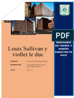 LOUIS SULLIVAN Y VIOLLET LE DUC