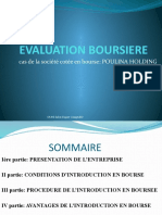 Evaluation Boursiere Poulina Group Holding