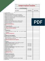 Template Budget Proposal