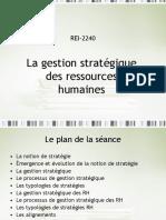 gestion stratégique des ressources humaines