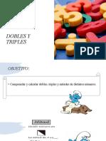 DOBLES Y TRIPLES 4° basico