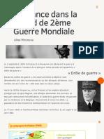 La France en 2ème Guerre Mondiale présentation