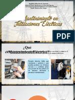 MANT. INSTALACIONES ELECTRICAS