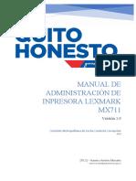 Manual Creacion de Un Usuario en La Impresora Lexmark Mx711