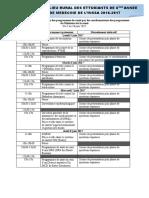 Calendrier Présentation Programmes_INSSA 6ème A_2017