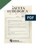 GACETA ECOLOGICA No 3