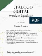 Catálogo digital prendas en liquidación