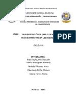 Guia Metodológica Para El Desarrollo Del Plan de Marketing en Los Negocios