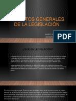 Aspectos generales de la legislación