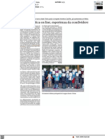 Gita scolastica on line, esperienza da condividere - L'Adige del 6 maggio 2021