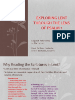Exploring Lent Through the Lens of Psalm 1