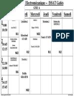 Emploi du temps - enseignement en ligne - semaine 03-05-2021