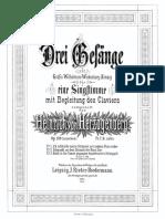 Herzogenberg, 3 Gesänge, Op.108