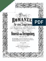 Herzogenberg, 3 Romanzen, Op. 47