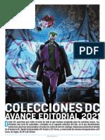 Plan Editorial de colecciones DC de ECC 2021