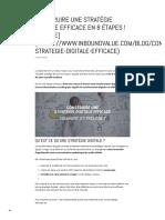 Construire Une Stratégie Digitale Efficace en 8 Étapes ! [Update]