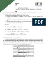 Estudo Dirrigido Trigonometria na Circunferencia Parte 2