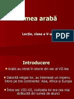 L 5 Lumea arabă