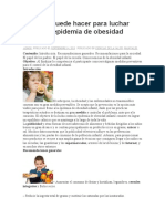 Qué Se Puede Hacer Para Luchar Contra La Epidemia de Obesidad Infantil