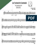 Himno Nacional de Guatemala - (Clarinete en Bb I)