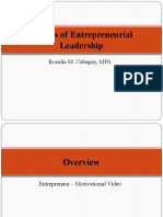 BSENT - Module 1 - Images of Entrepreneurial Leadership