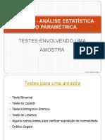 Estatística Não Paramétrica - Testes Envolvendo uma Amostra