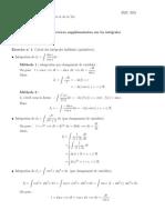Corrigé des exercices supplémentaires sur les intégrales