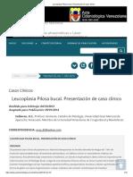 Leucoplasia Pilosa Bucal. Presentación de Caso Clínico
