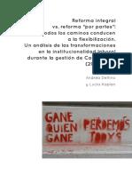 DELFINO Y KAPLAN 2019. Reforma integral vs reforma por partes...