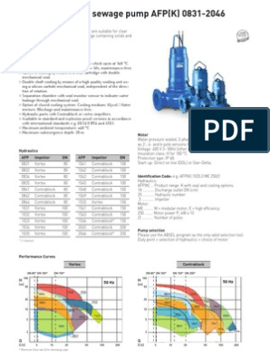 ABS SUBMERSIBLE SEWAGE PUMP AFP(K) 0831-2046 (GB) 2-page ... on