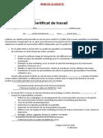 ATTESTATION DE TRAVAIL DETAILLEE MARKETING
