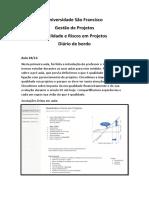 Diário de Bordo - Qualidade e Riscos em Projetos