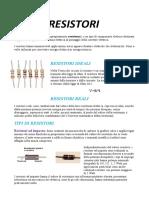 resistenze e condensatori