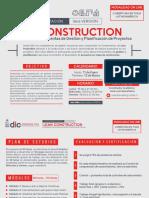 flyer promocional curso lean construction