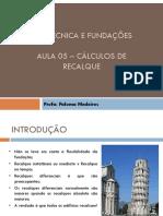 fundação aula 5 recalque parte 1