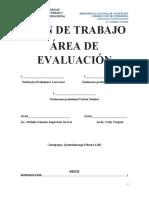 PLAN DE TRABAJO AREA DE  EVALUACION COVID 19 2021 no. 2