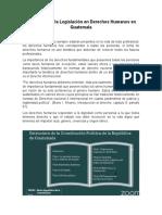 Aplicación de La Legislación en Derechos Humanos en Guatemala