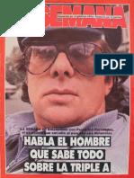 """La Semana Nro. 332  del 21 abril de 1983, """"Habla el hombre que sabe todo sobre la Triple A"""" (Rodolfo Peregrino Fernández"""").."""
