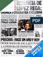 Revista Genrte Nro. 521 del 17 de julio de 1975, La renuncia de López Rega.