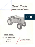 WheelHorse GT14 owners Manual 1-7441