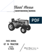 WheelHorse GT 14 Parts Manual 1-7451_A-5260