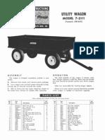 WheelHorse Utility Wagon Owners manual 7-2111_258