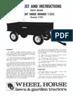 WheelHorse Utilty Wagon Owners manual 7-2112_803875