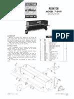 WheelHorse Aerator 7-2411 Owners manual