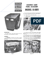 WheelHorse headlight panel accesory for Comando 8 tractors 8-0811 Manual
